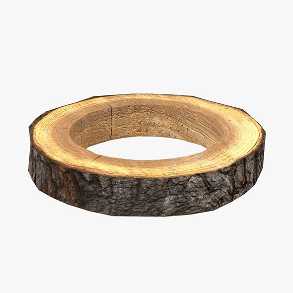 Wood Log Ring Low-Poly - 3DOcean Item for Sale
