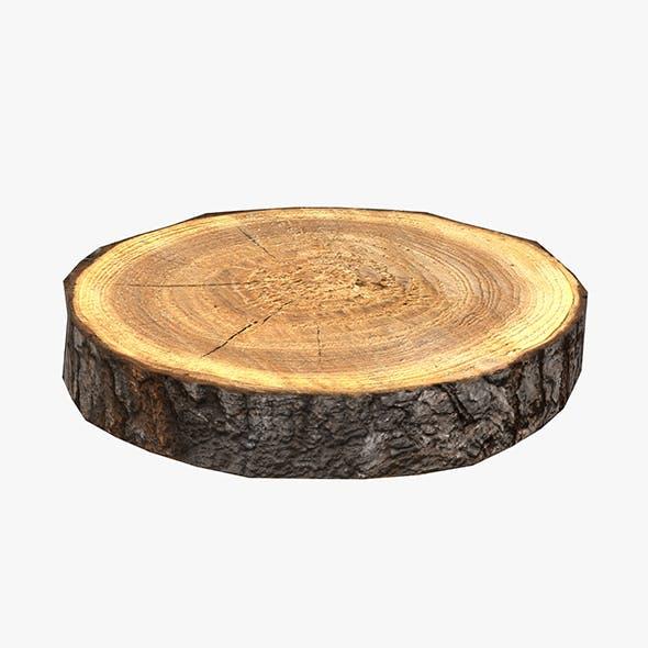 Wood Log Slice Low-Poly - 3DOcean Item for Sale