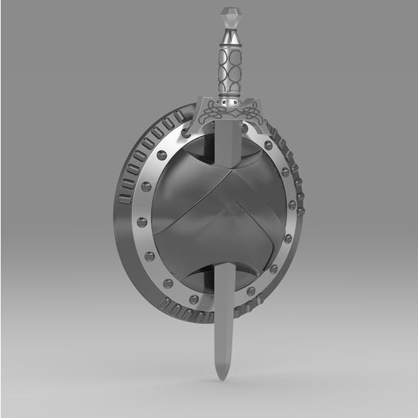 Shield and sword 5 - 3DOcean Item for Sale