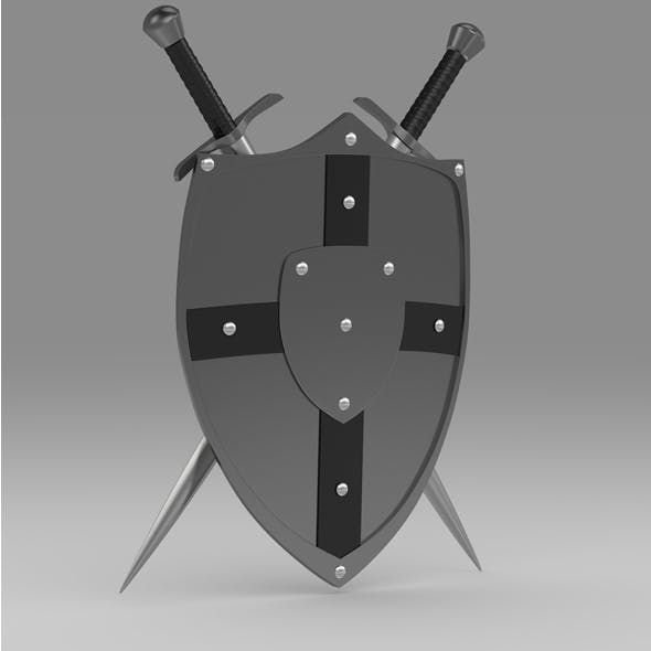 Shield and sword 6 - 3DOcean Item for Sale