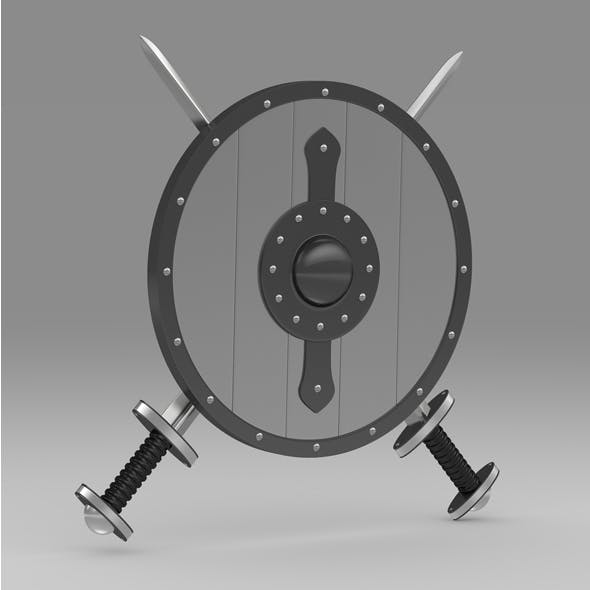 Shield and sword 7 - 3DOcean Item for Sale