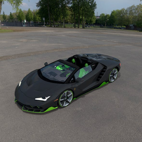 Lamborghini Centenario Roadster 2017 Lp770-4 Full model Low Poly