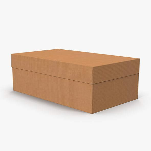 Cardboard Shoe Box Low-Poly - 3DOcean Item for Sale