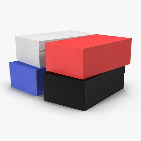Colored Shoe Boxes Low-Poly - 3DOcean Item for Sale