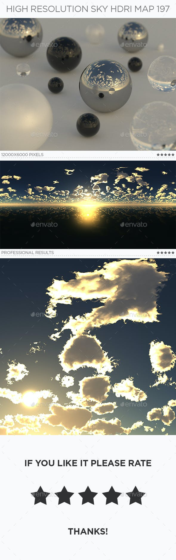 High Resolution Sky HDRi Map 197 - 3DOcean Item for Sale
