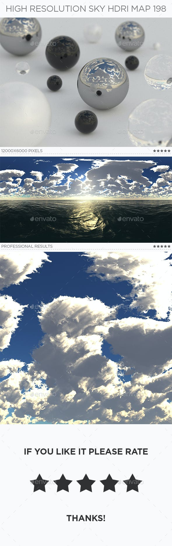 High Resolution Sky HDRi Map 198 - 3DOcean Item for Sale