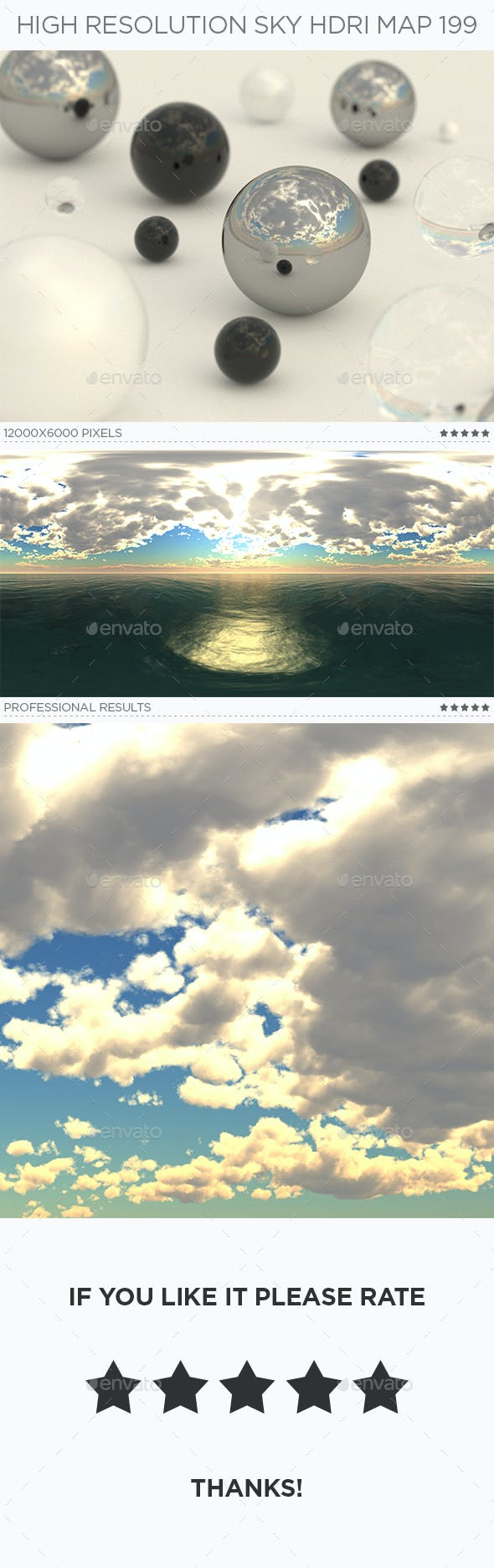 High Resolution Sky HDRi Map 199 - 3DOcean Item for Sale