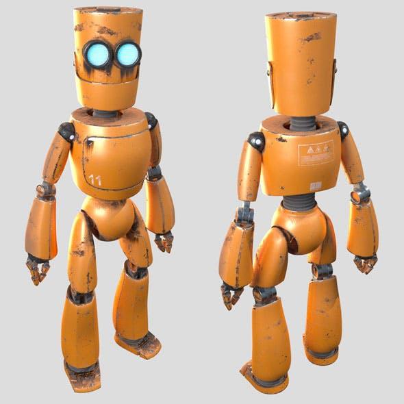 Robot. Orange robot - 3DOcean Item for Sale