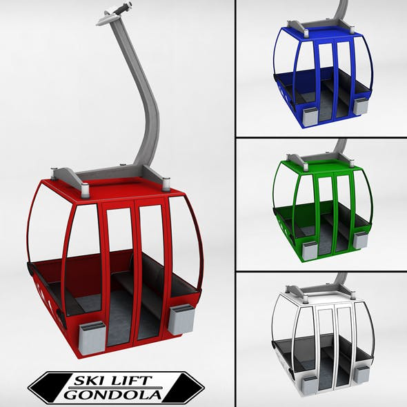 Ski lift gondola cable car small - 3DOcean Item for Sale