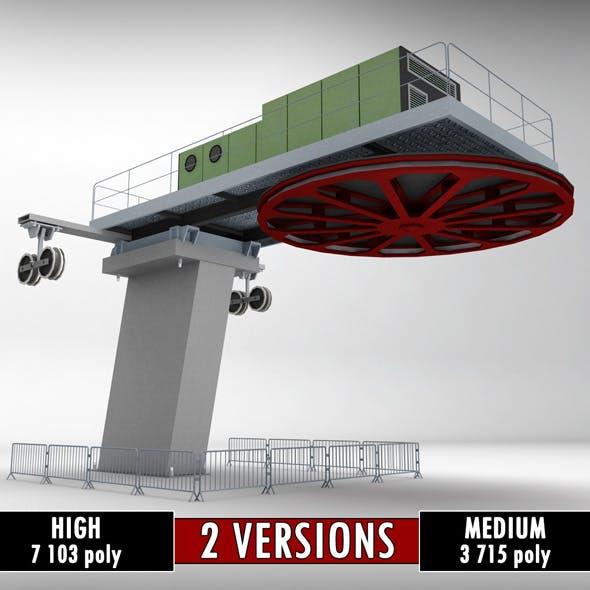 Ski lift cableway pillars 2 - 3DOcean Item for Sale