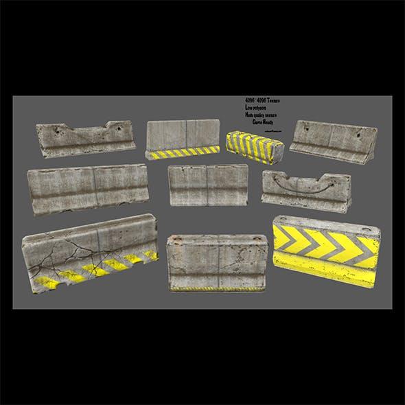 barrier set 1 - 3DOcean Item for Sale