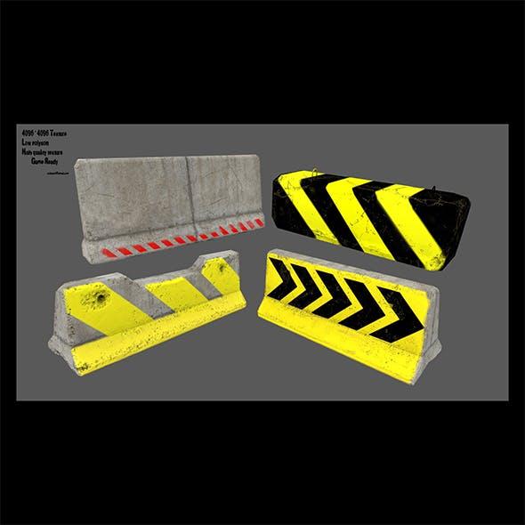 barrier set 8 - 3DOcean Item for Sale
