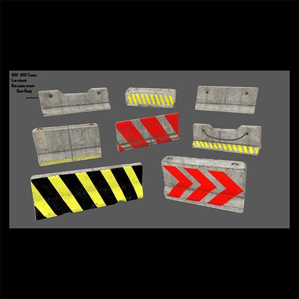 barrier set 5 - 3DOcean Item for Sale