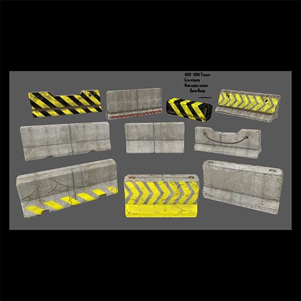 barrier set 4 - 3DOcean Item for Sale