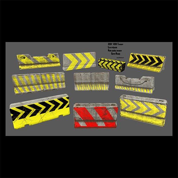 barrier set 3 - 3DOcean Item for Sale