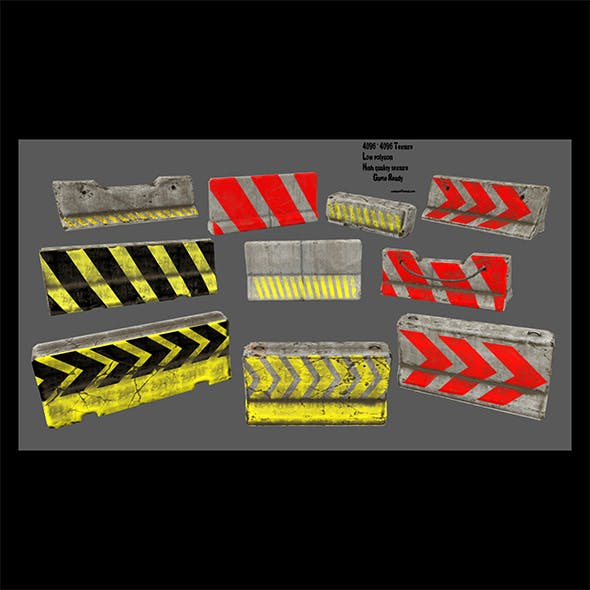 barrier set 2 - 3DOcean Item for Sale