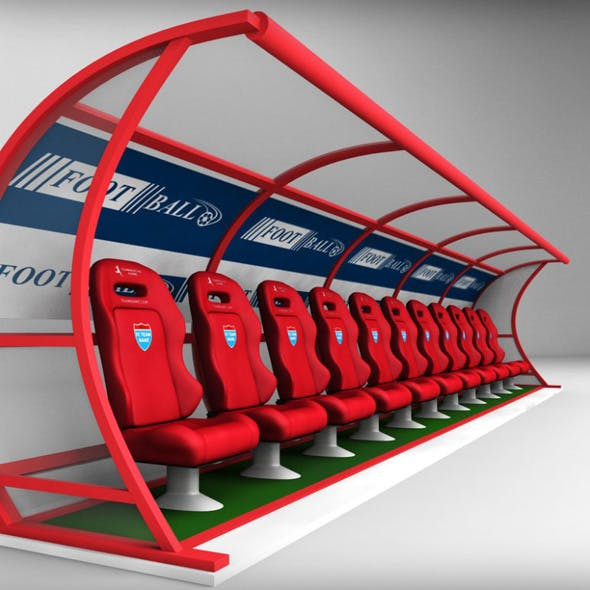 Stadium seating reserve bench - 3DOcean Item for Sale