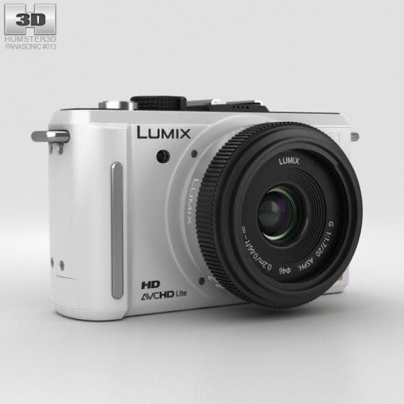 Panasonic Lumix DMC-GF1 White - 3DOcean Item for Sale