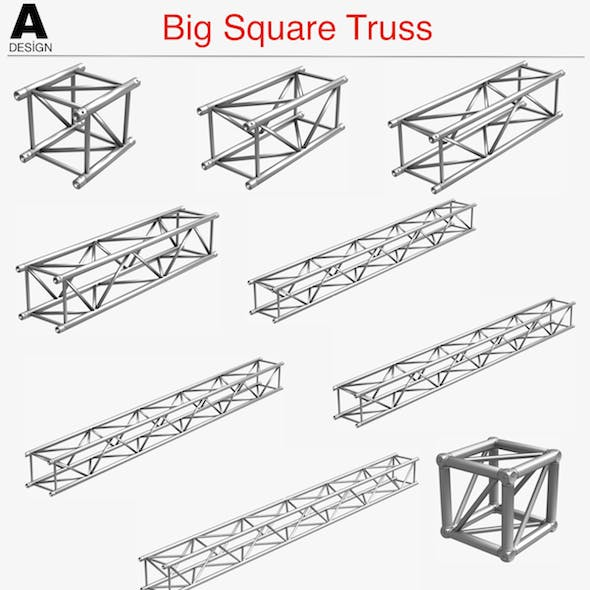 Big Square Truss (Collection 10 Modular Pieces)