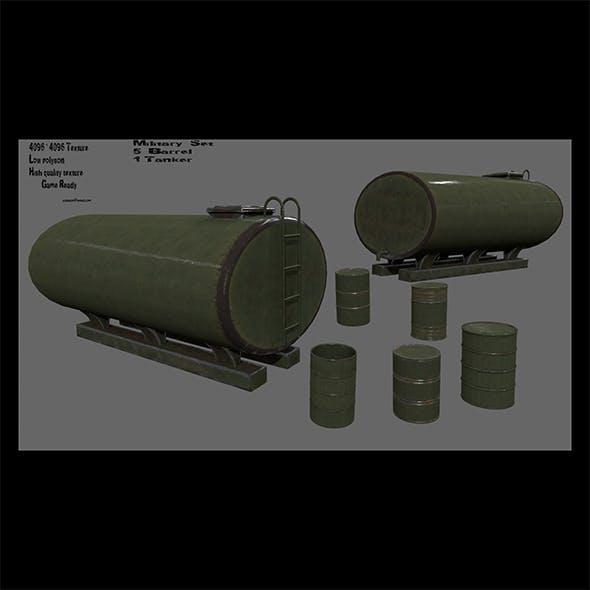 military barrel set - 3DOcean Item for Sale