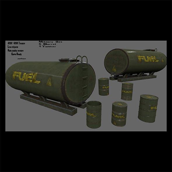 military fuel barrel set - 3DOcean Item for Sale