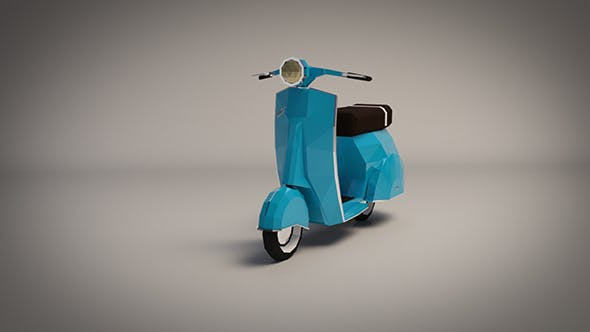 Low-Poly Cartoon Vespa Scooter - 3DOcean Item for Sale