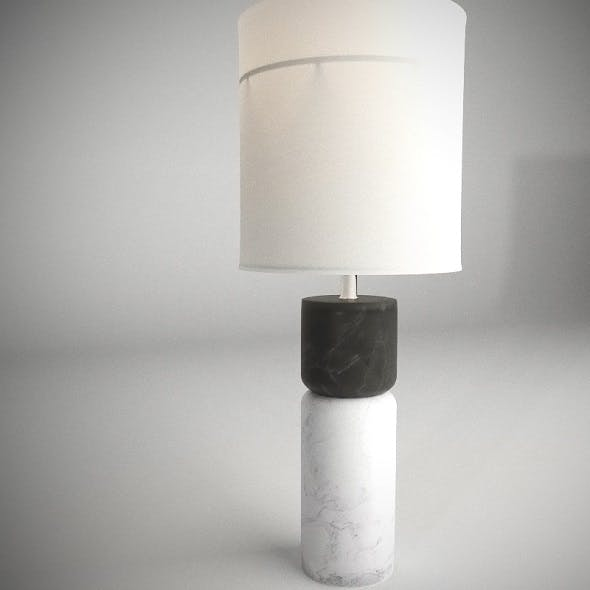Stacked Marble Table Lamp - 3DOcean Item for Sale