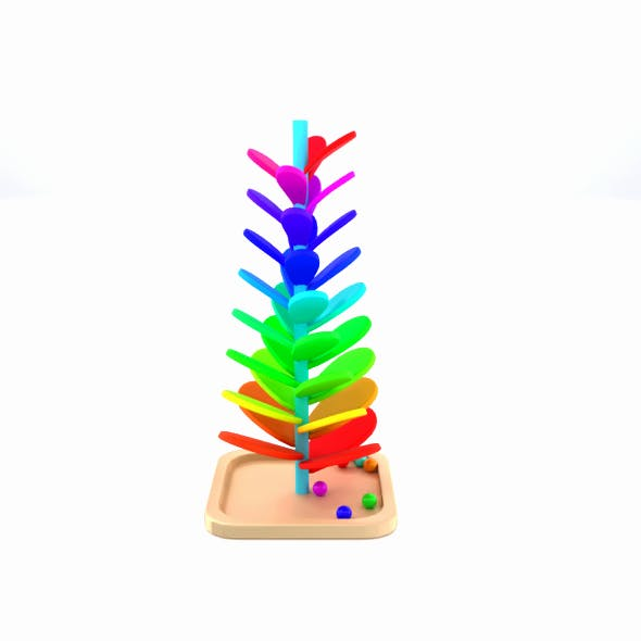 Montessori Mainbow Wooden Soundtree Toy - 3DOcean Item for Sale