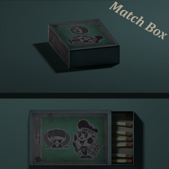Match Box with Match sticks