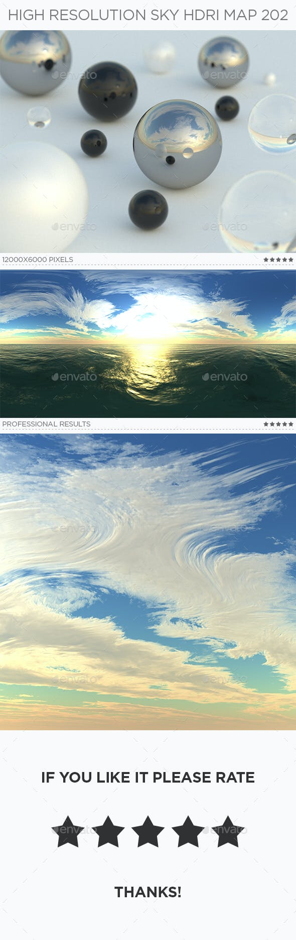 High Resolution Sky HDRi Map 202 - 3DOcean Item for Sale