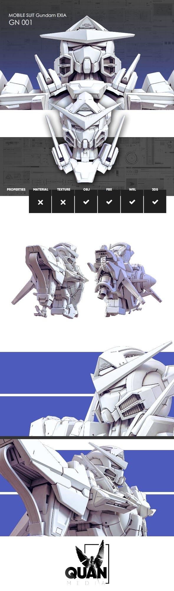 Mobile Suit Gundam EXIA Model - 3DOcean Item for Sale