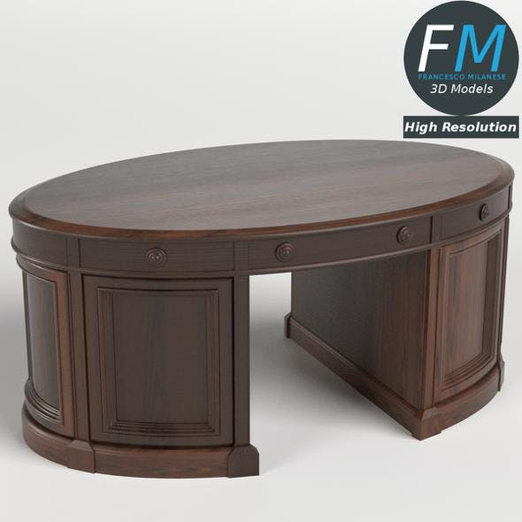 Oval Office Executive Desk - 3DOcean Item for Sale