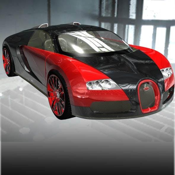 Bugatti Veyron EB 16.4 Super Sport Car 3D Model