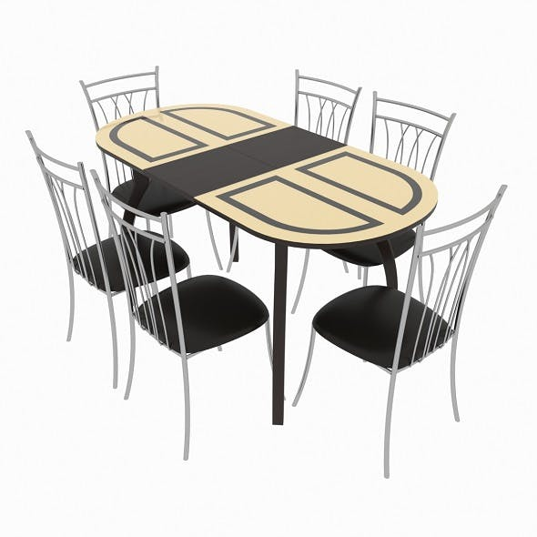 Dining set consisting of a table Milan Venge and chairs Premier - 3DOcean Item for Sale