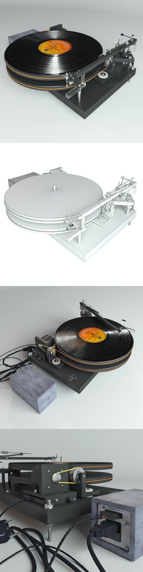 Vinyl player 47 Laboratory 4724 Koma - 3DOcean Item for Sale