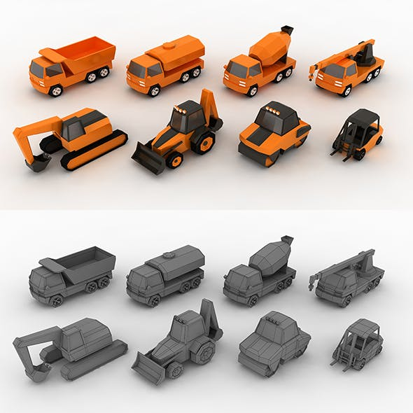 Low-poly Construction machinery