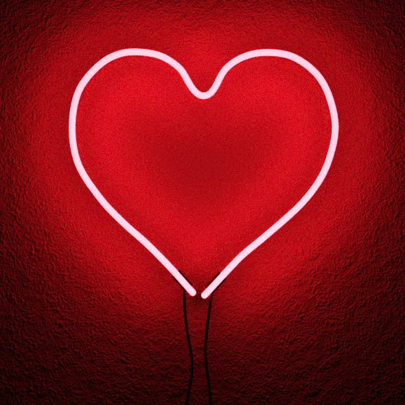 Loves Neon Red Wall Sconce - 3DOcean Item for Sale