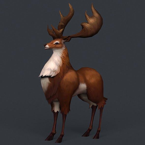 Game Ready Fantasy Deer - 3DOcean Item for Sale