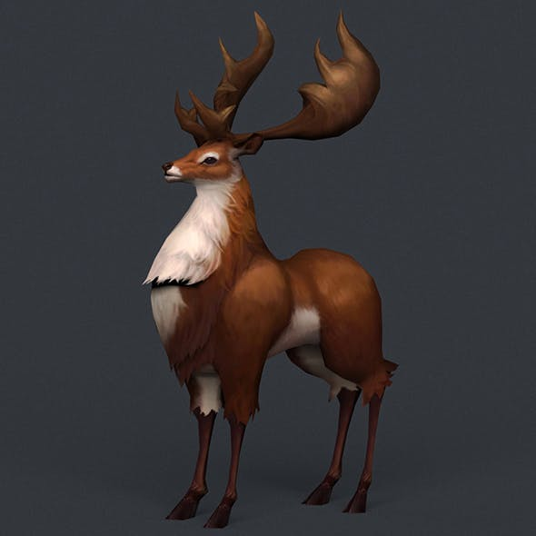 Game Ready Fantasy Deer