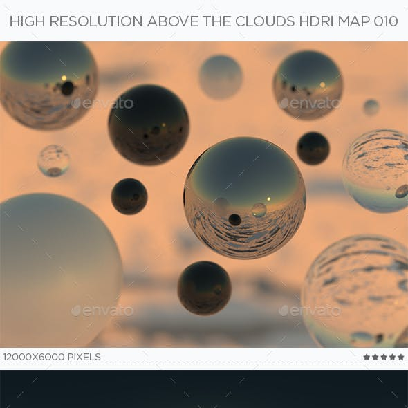 High Resolution Above The Clouds HDRi Map 010