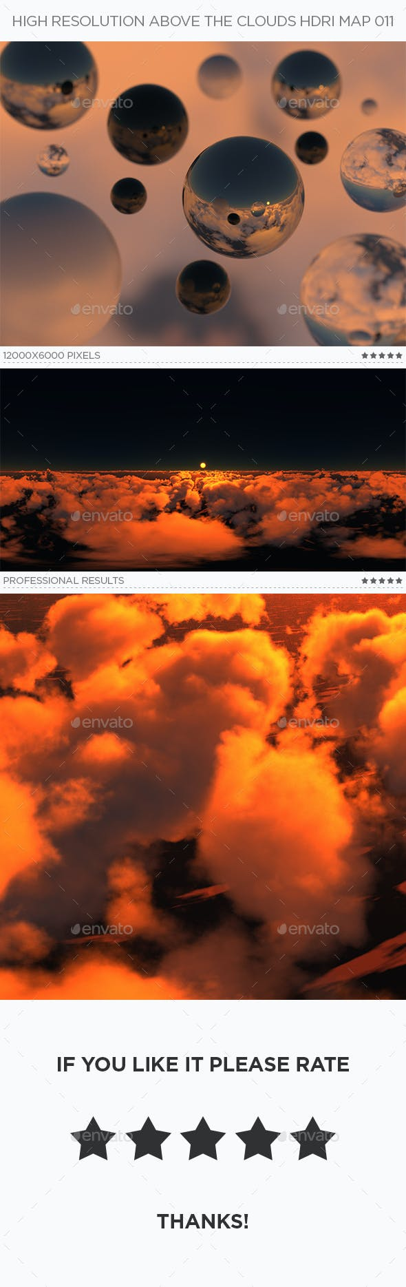 High Resolution Above The Clouds HDRi Map 011 - 3DOcean Item for Sale
