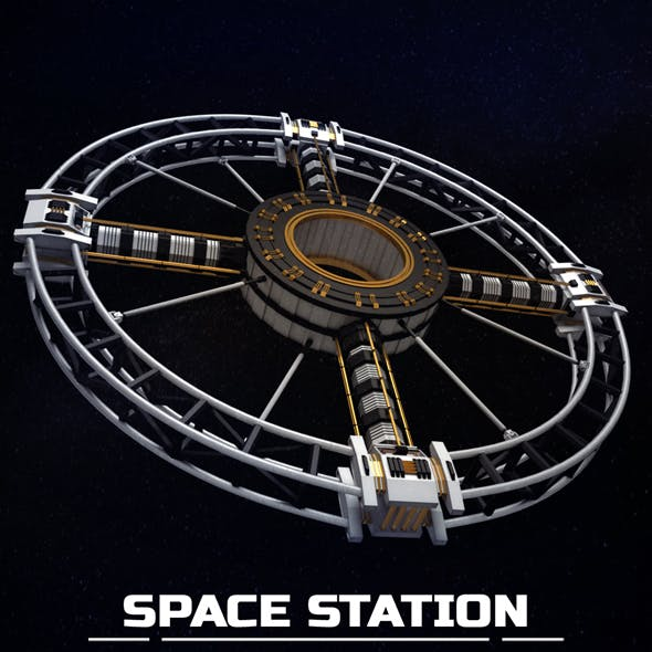 Space station torus sci-fi