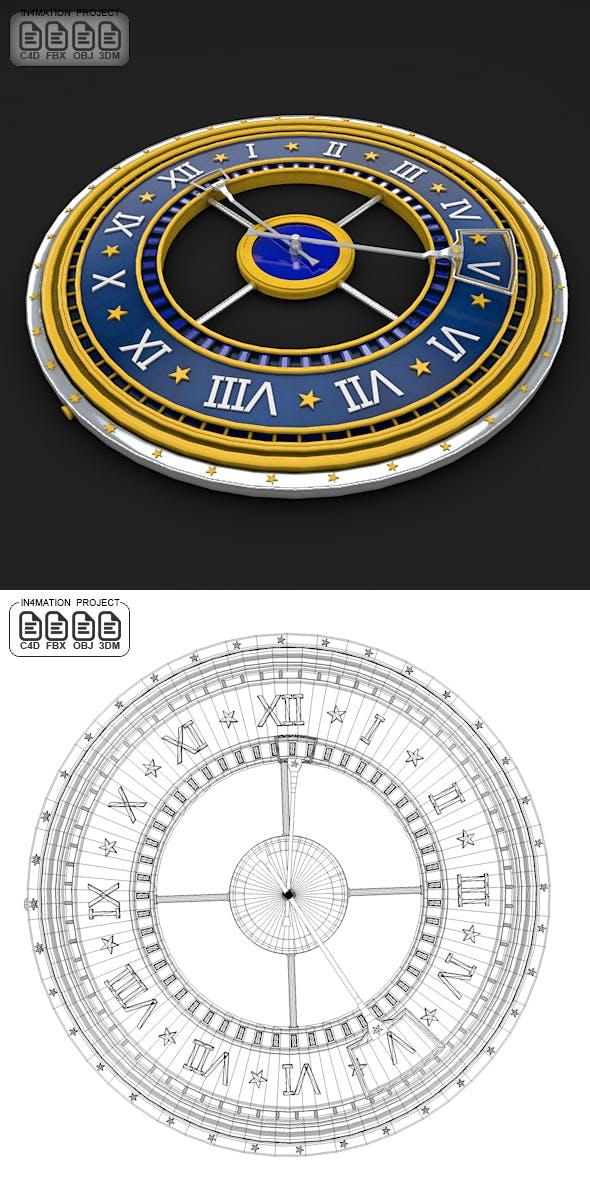 Roman Clock 3D Model - 3DOcean Item for Sale