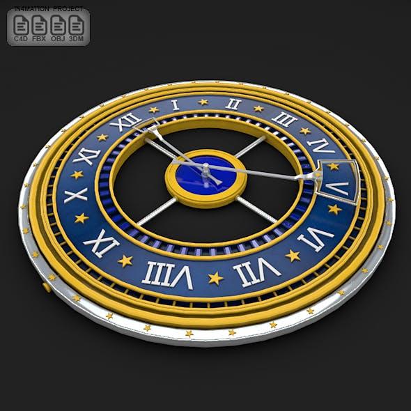 Roman Clock 3D Model
