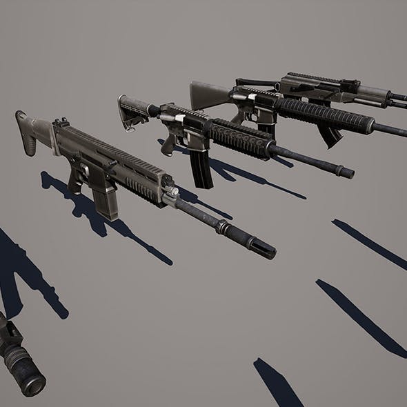Photo-realistic Weapons For Games VR / AR