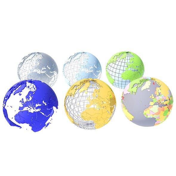Geopolitical Globe 3D Model - 3DOcean Item for Sale