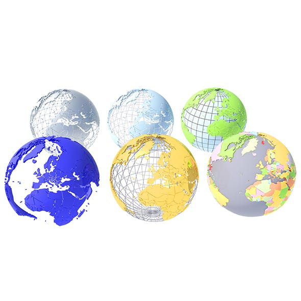 Geopolitical Globe 3D Model