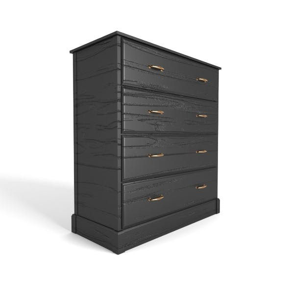 Chest of 4 drawers black - 3DOcean Item for Sale
