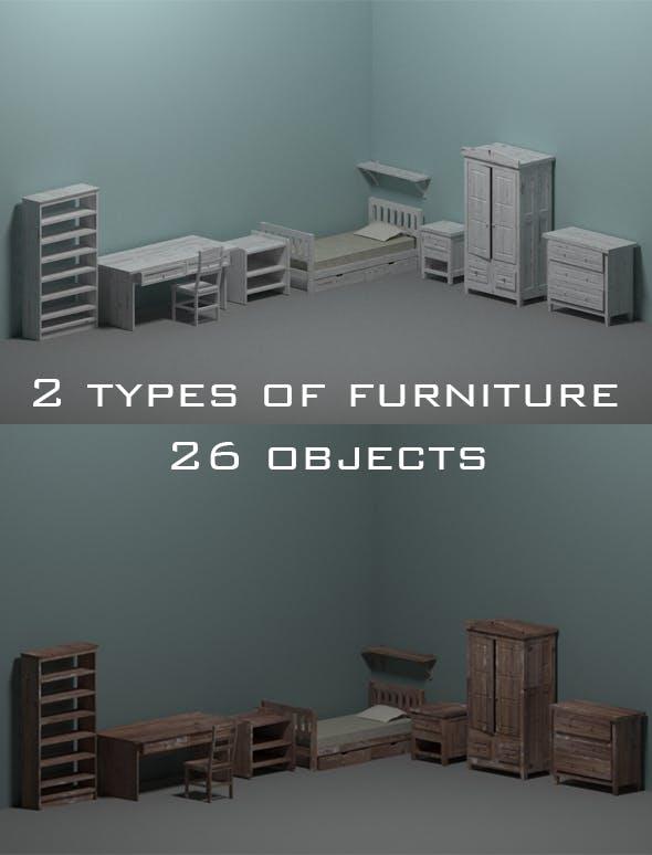 Room furniture - 3DOcean Item for Sale
