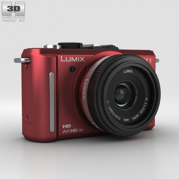 Panasonic Lumix DMC-GF1 Red - 3DOcean Item for Sale